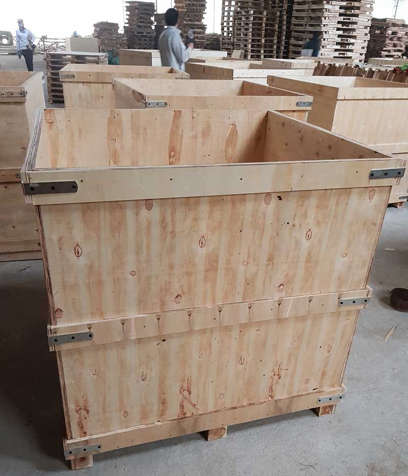 Thùng gỗ 1100x1000x1100. Trọng tải 2 tấn